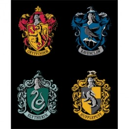 HP House Crests Panel in Black