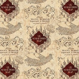 Marauders Map in Tan