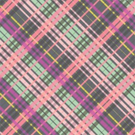 My Gray or the Highway Colorful Plaid in Gray
