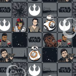 STAR WARS VII - HEROES IN SQUARES - COTTON 7360201