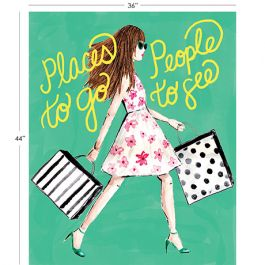 Fabric Sale Panel - City Girl - Places To Go - 100% Cotton - 44/45 26180109JP