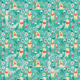 Disney Pooh Forest Flannelette