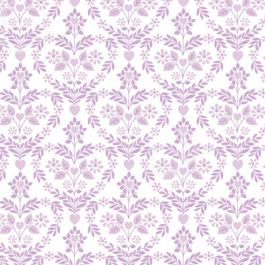 The Girls - Nordic Floral Heart Lilac