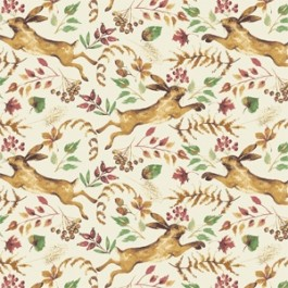 Camelot Fables Hares - Cream (Min order of 1m)