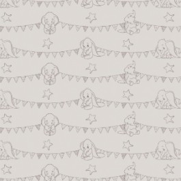 Bunting Banners in Light Taupe by Camelot 85160103
