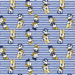 MAYWOOD STUDIO MICKEY AND FRIENDS BLUE/WHITE STRIPE DONALD/DAISY 85270104