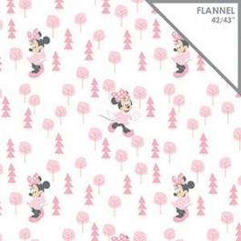 Camelot Fabrics Pink Disney Minnie in the Meadow 85270401B 01