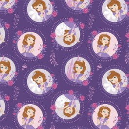 Sofia the First Floral Frame in Grape
