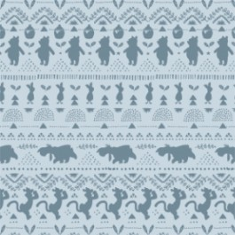 Winnie the Pooh Wonder and Whimsy - Silhouette Stripe in Light Blue