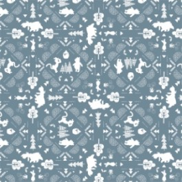 Winnie the Pooh Wonder and Whimsy - Silhouette Lace in Dark Blue