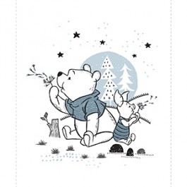pooh and piglet panel in white