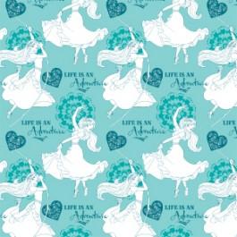 Fabric Sale - Banderines in Blue