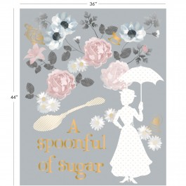 Mary Poppins A Spoonful Of Sugar Panel in Light Gray - Metallic