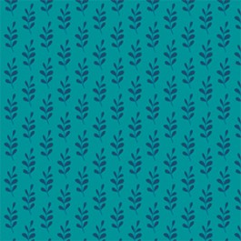 Leaves in Turquoise