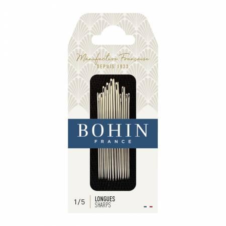 Bohin Sharps Needles Size 1/5 (20 pk)