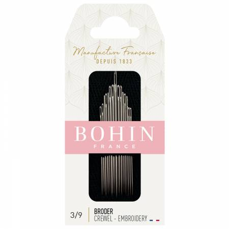 Bohin Embroidery / Crewel Needles Sizes 3/9