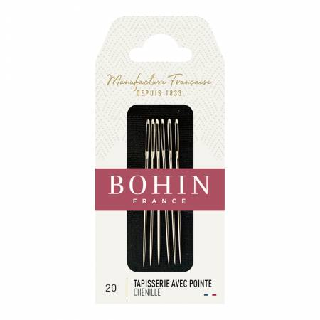 Bohin Chenille Needles Size 20 6ct