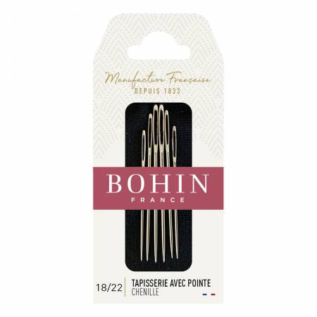 Bohin Chenille Needles Assorted Sizes 18/22