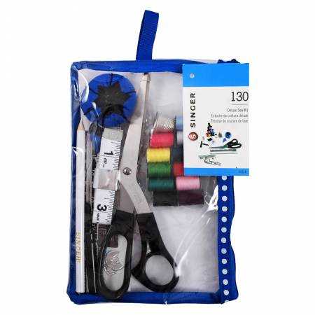 01518 Beginner's Sewing Kit in a Pink & Black Pouch