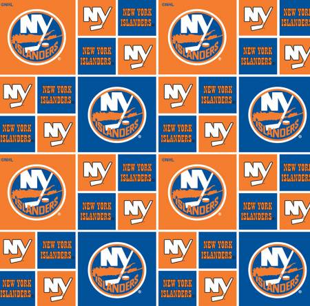 NHL Hockey New York Islanders- Block Print