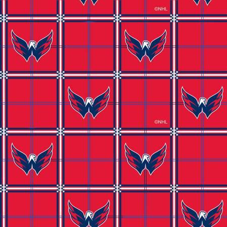 Washington Capitals NHL Hockey Small Scale Box on Flannel