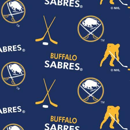 NHL Hockey Buffalo Sabres Fleece-Tossed Logo