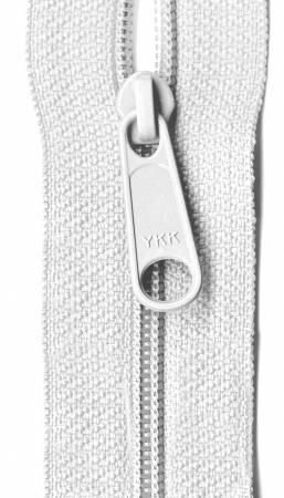 Designer Accents Ziplon Closed Bottom Zipper 14in White