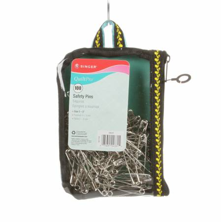 Notions Pins Quilting Safety Pins in Fashion Pouch 100ct
