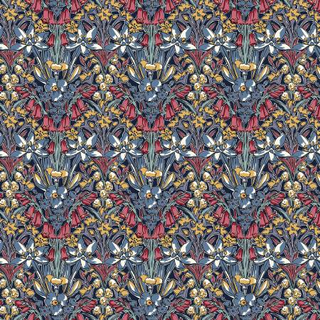 Winter Flower Show - Adlington Hall C, Mixed - by Liberty of London for Riley Blake Fabrics