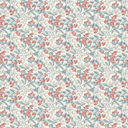 Festive Collection Mini Christmas Berry White by Liberty fabrics