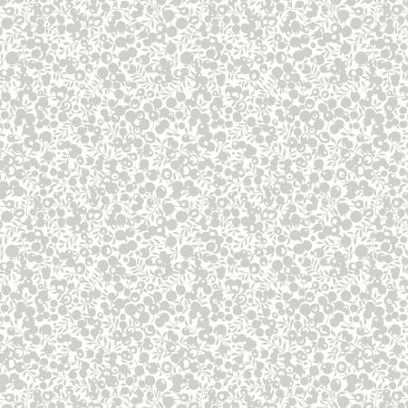 Silver Metallic Berries on Cream:  Festive Collection - Wiltshire Shadow by Liberty Fabrics