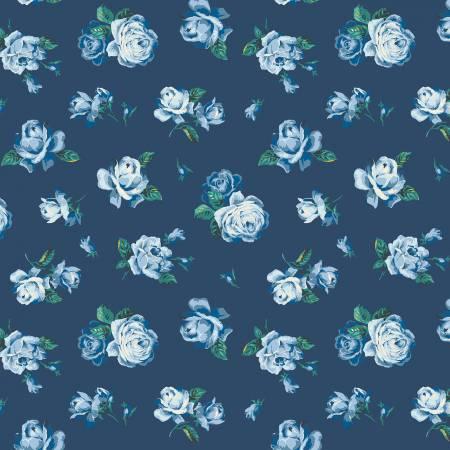 Liberty Fabrics The Emporium Collection - Regent Rose in Blue