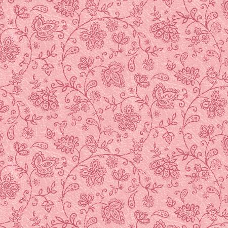 Soulful Paisley Floral Pink Soulful Shades of Pink