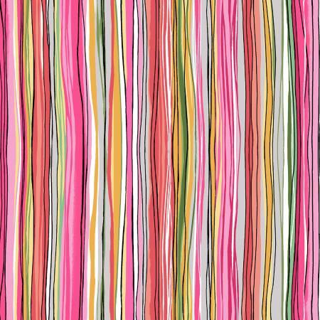 Unfinished Rose Sketchy Stripe
