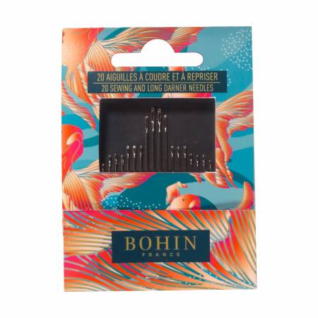 Bohin Assorted Needles Book 20ct Red Fish