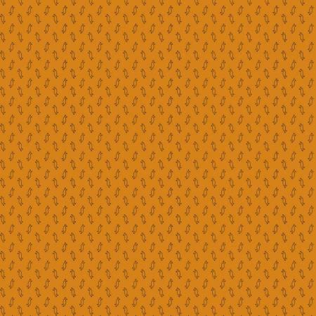 Fabric - Orange Mini Motif