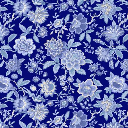 SPECIALTY FABRICS ROOM: Navy Lady J:  Celeste by Nancy Rink Designs for Marcus Fabrics