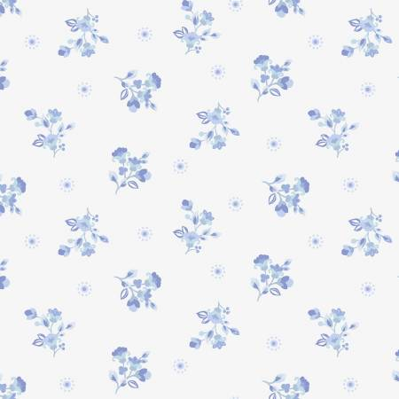 SPECIALTY FABRICS ROOM:  White Spring Dot: Celeste by Nancy Rink Designs for Marcus Fabrics