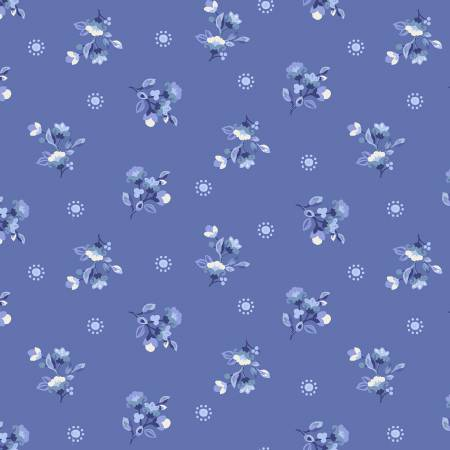 SPECIALTY FABRICS ROOM:  Blue Spring Dot: Celeste by Nancy Rink Designs for Marcus Fabrics