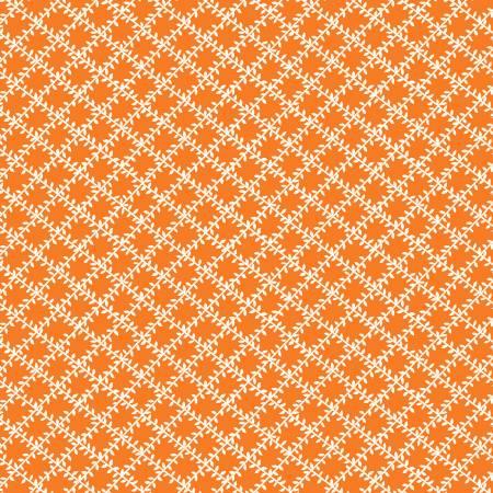 Aunt Grace's Apron - Leaf Trellis PUMPKIN ORANGE #0760 by Judie Rothermel (1930's Reproduction) / Marcus Fabrics