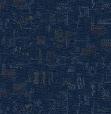 Blue Stitched