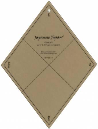 Japanese Jigsaw Acrylic Template - T-P