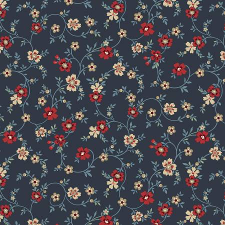 Blue Meadow Navy Flowery
