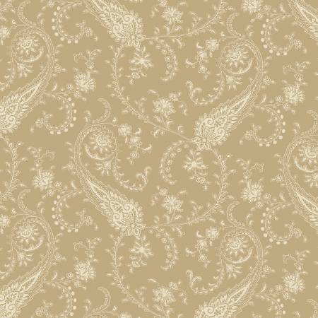 Blue Meadow Tan Paisley