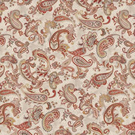 Paisley Palette-Red Main Paisley