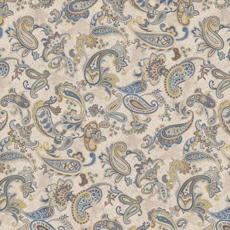 Blue Main Paisley - Paisley Palette by Marcus Fabrics