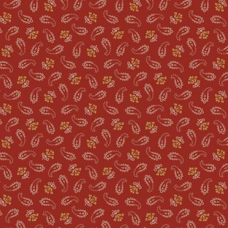 Red Small Paisley - Paisley Palette by  Marcus Fabrics