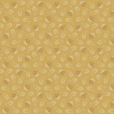 Gold Small Paisley - Paisley Palette by  Marcus Fabrics