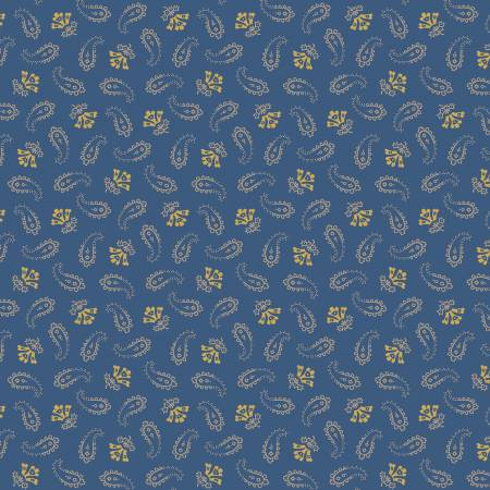 Blue Small Paisley - Paisley Palette by  Marcus Fabrics