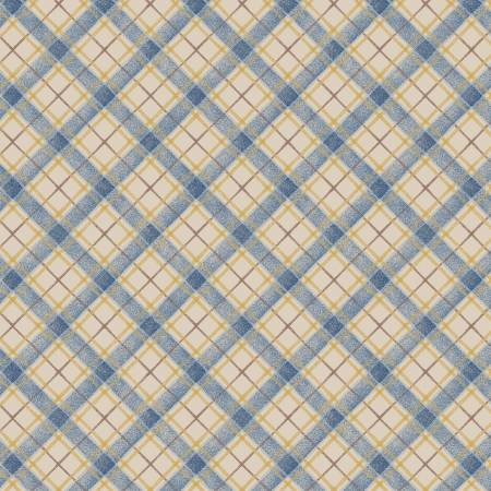 Blue Plaid - Paisley Palette by  Marcus Fabrics
